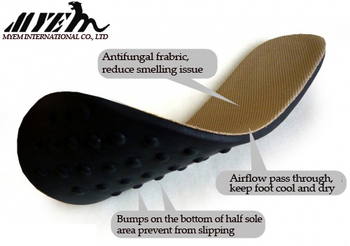 Bamboo Charcoal Deodorant Insole/Breathable insole